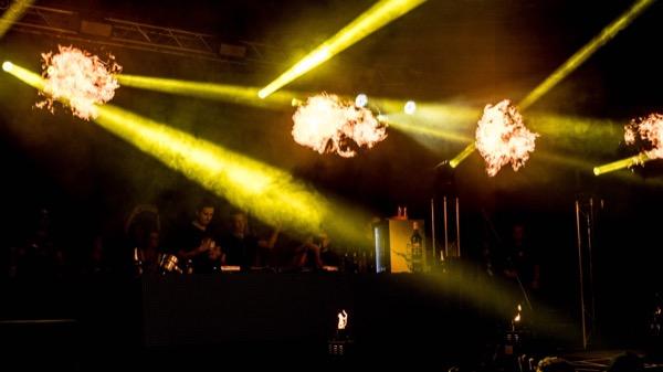 Pyrotechnik bei Festival